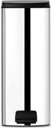 Мусорный бак прямоугольный с педалью 25л сталь полированная Brabantia 369384