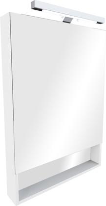 Зеркальный шкаф однодверный с полочкой и светильником 70х85см, белый Roca The Gap zru9302749