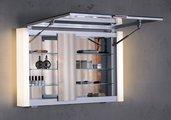 Зеркальный шкаф 80x61см с подсветкой однодверный Keuco ROYAL METROPOL 14001171201