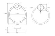 Кольцо для полотенец 160x55мм Bemeta Neo 104104065