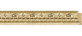 Зеркало 52x142см в багетной раме сусальное золото Evoform BY 1068