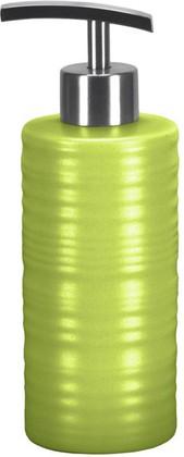 Ёмкость для жидкого мыла высокая керамическая зелёная Kleine Wolke Sahara 5046625854