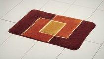 Набор из 3 оранжевых ковриков: для ванной (50x80см), под туалет (50x40см) и на крышку унитаза (47х50см) Grund PEKING 691.93.055