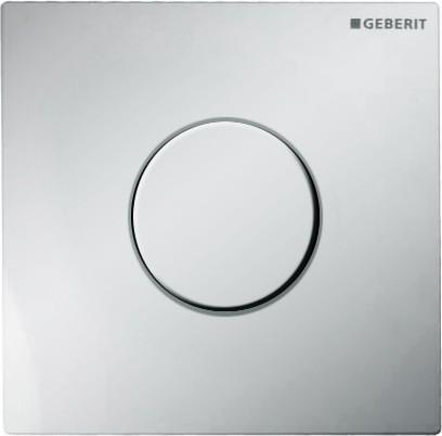 Пневматическая система управления смывом для писсуара, пластиковая рама глянцевый хром Geberit Sigma01 116.011.21.5