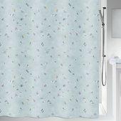 Штора для ванной Spirella Swimming, 180x200см, текстиль, голубой 1020163