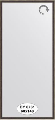 Зеркало 68x148см в багетной раме витой махагон Evoform BY 0761