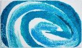 Коврик для ванной Grund Colani 42, 70x120см, полиакрил, голубой 2613.23.143