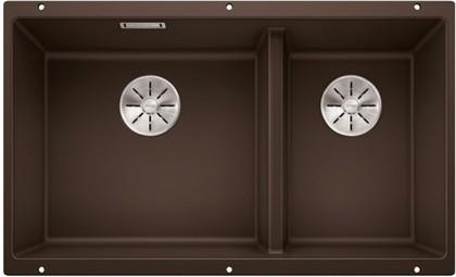 Кухонная мойка Blanco Subline 430/270-U, отводная арматура, кофе 523160