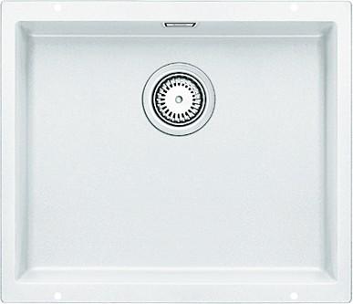 Кухонная мойка без крыла, с клапаном-автоматом, гранит, белый Blanco Subline 500-U 513408