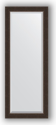 Зеркало 51x131см с фацетом 25мм в багетной раме палисандр Evoform BY 1154