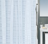 Штора для ванны 180x200см текстильная сатиновая голубая Spirella ONDA 1015522