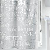 Штора для ванной Spirella Cities, 180x200см, полиэтилен, серый 1013044