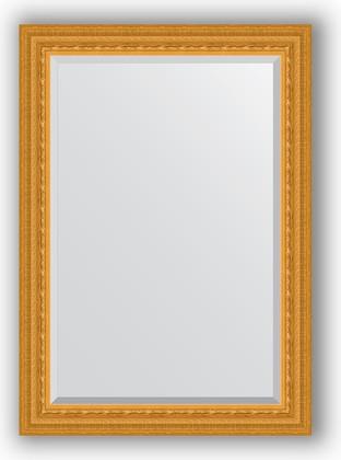 Зеркало 75x105см с фацетом 30мм в багетной раме сусальное золото Evoform BY 1294