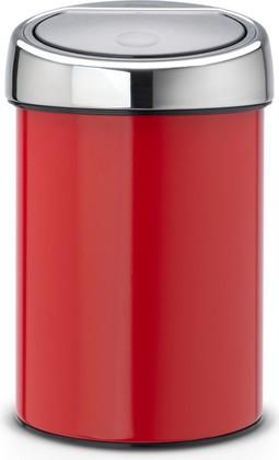 Ведро для мусора 3л, пламенно-красное Brabantia Touch Bin 364426