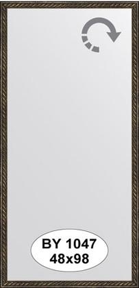Зеркало 48x98см в багетной раме витая бронза Evoform BY 1047