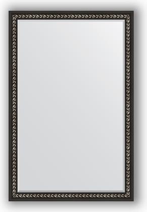 Зеркало 115x175см с фацетом 30мм в багетной раме чёрный ардеко Evoform BY 1215