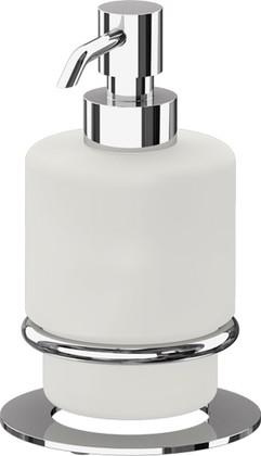 Дозатор для жидкого мыла ArtWelle Universell настольный, стекло, хром AWE 003