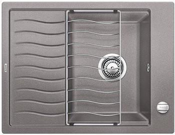 Кухонная мойка оборачиваемая с крылом и решеткой, алюметаллик Blanco Elon 45S 520991