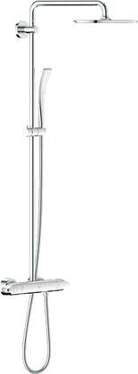Душевая система поворотная с термостатом для настенного монтажа, хром Grohe RAINSHOWER System 310 27472000