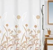 Штора для ванны 180x200см текстильная бежевая Spirella PRADO 1015542