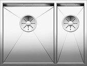 Кухонная мойка Blanco Zerox 340/180-IF, чаша слева, отводная арматура, полированная сталь 521611