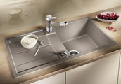 Смеситель кухонный однорычажный с выдвижным изливом, хром / жасмин Blanco ZENOS-S 517823