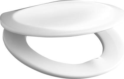 Сиденье для унитаза с крышкой, пластиковые петли, белое Jika Lyra Dino 933703000009