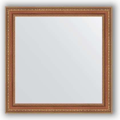 Зеркало в багетной раме 65x65см бронзовые бусы на дереве 60мм Evoform BY 3139