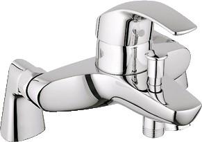 Смеситель однорычажный для монтажа на бортик ванны, хром Grohe EUROSMART 33303001