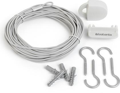 Бельевая веревка Brabantia, комплект, белая 105647