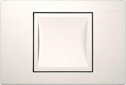 Кнопка одинарного смыва для инсталляции, белая Geberit Delta40 115.130.11.1