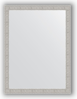 Зеркало в багетной раме 61x81см волна алюминий 46мм Evoform BY 3166