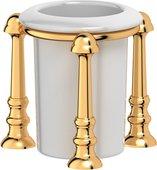 Стакан фарфоровый с настольным металлическим держателем, золото 3SC STI 227
