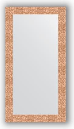 Зеркало в багетной раме 56x106см соты медь 70мм Evoform BY 3082