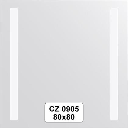 Зеркало для ванной 80x80см со светильниками FBS CZ 0905