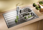 Кухонная мойка оборачиваемая с крылом, нержавеющая сталь полированная Blanco Livit 45 S Salto 514786