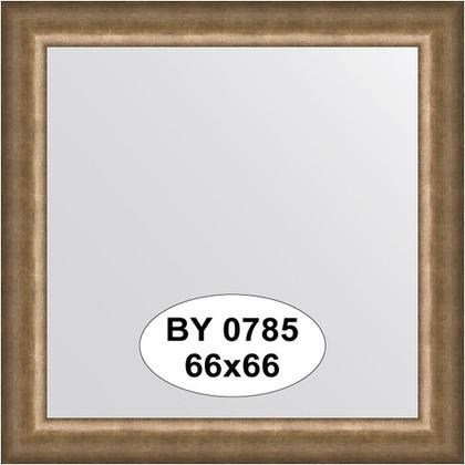 Зеркало 66x66см в багетной раме старая бронза Evoform BY 0785