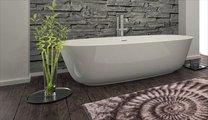 Коврик для ванной 60x100см бежевый Grund AMMONA 3616.16.297