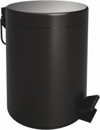 Ведро для мусора с педалью Bemeta Dark 5л, с закрытием Soft Close, чёрное 104315010