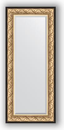 Зеркало 60x140см с фацетом 30мм в багетной раме барокко золото Evoform BY 1261