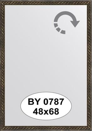 Зеркало 48x68см в багетной раме витая бронза Evoform BY 0787