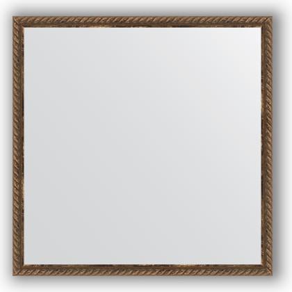 Зеркало 58x58см в багетной раме витая бронза Evoform BY 0772