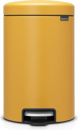 Мусорный бак с педалью 12л, минерально-горчичный Brabantia Newicon 115868