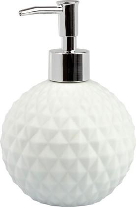 Дозатор для жидкого мыла Spirella Alison, керамика, отдельностоящий, белый 4007342