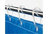 Кольца для шторы прозрачно-фиолетовые Spirella DROP 1014721