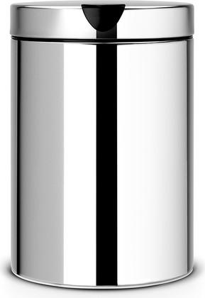 Ведро для мусора настенное 3л сталь полированная Brabantia 218644