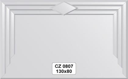 Зеркало для ванной 130x80см с фацетом и декором FBS CZ 0807