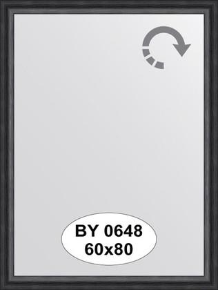 Зеркало 60x80см в багетной раме дуб чёрный Evoform BY 0648