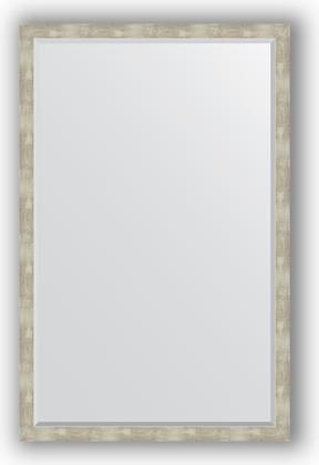 Зеркало 111x171см с фацетом 30мм в багетной раме алюминий Evoform BY 1219