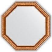Зеркало Evoform Octagon 622x622 в багетной раме 64мм, версаль бронза BY 3725